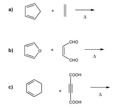 diels alder retrosynthesis problems