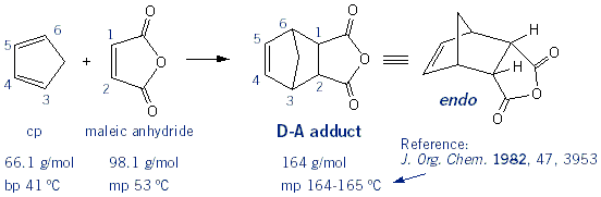 major product of maleic acid reaction with cyclopentadiene Major product is the markovnikov product, followed by the anti-markovnikov product but there will be none of the rearranged product since the reaction  acid.